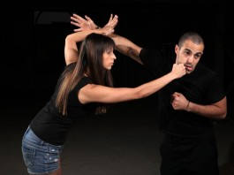 girl learning self defence