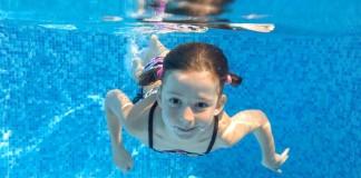 kid in water