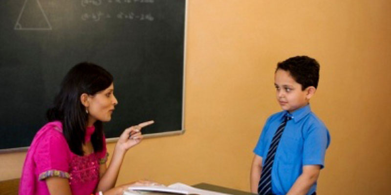 teacher's scolding